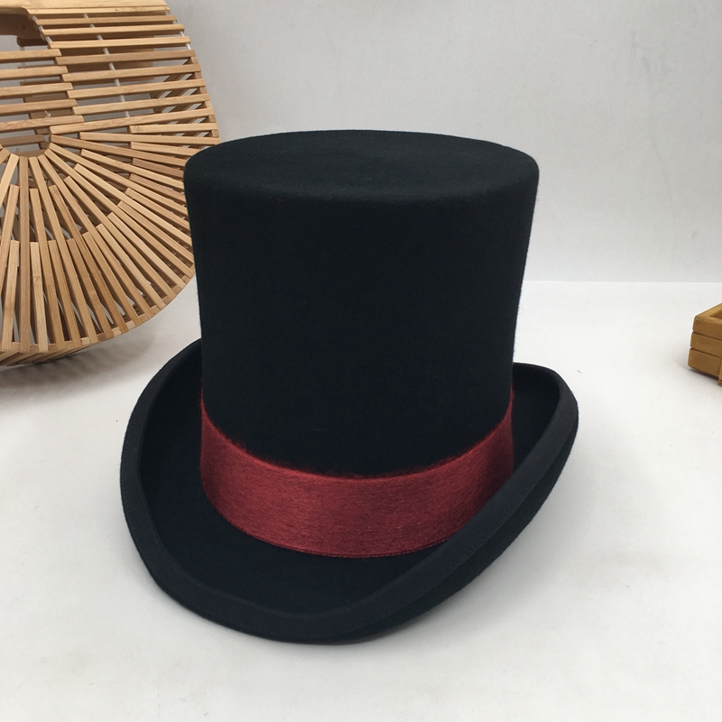 British Wind In Europe And The Gentleman Cap Stage Performance Top Hat Retro Fashion And Personality President Hat Cap(China)