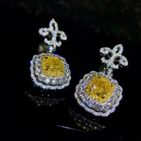 factory wholesale SGARIT brand new fashion 18k real gold Topaz natural gemstone Imbue Diamond stud earrings jewelry