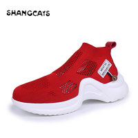 2018 Sneakers Women Breathable Summer Shoes Woman Fashion Casual Slip On White Shoes Red Sneakers Tenis Feminino Lady Footwear