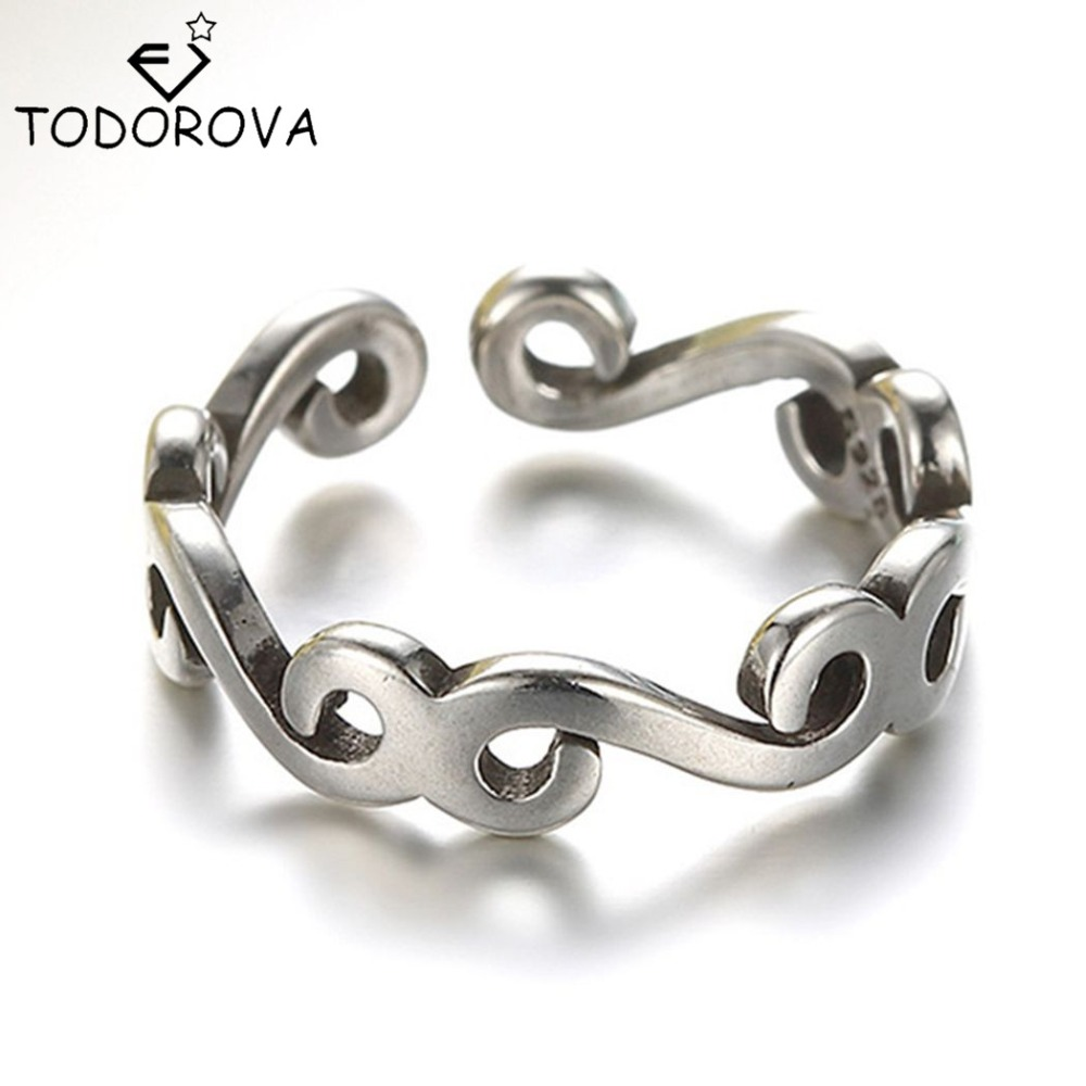 Todorova Real Pure 925 Sterling Silver Long Rattan Knuckle Toe Finger Ring Women Ethnic Steampunk Price Wedding Engagement Rings