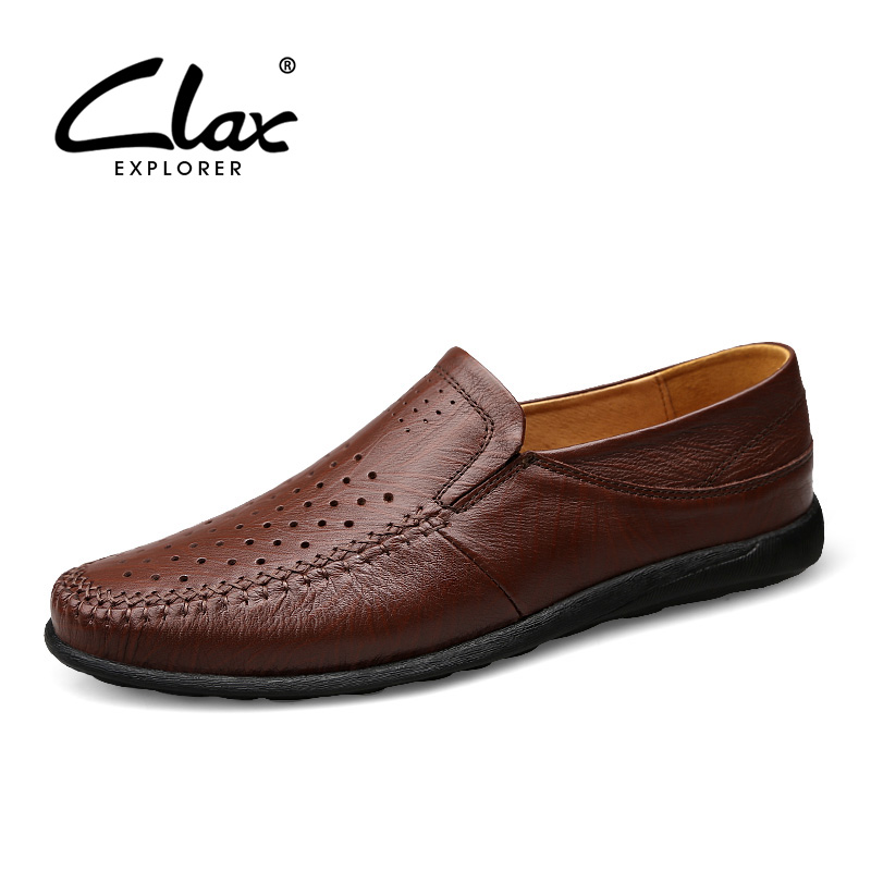 CLAX Men Summer Shoes Breathable Designer Male Moccasins Casual Leather Footwear Man s Boat Shoe Loafers