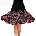 2016 Nuevo fashion Square mujeres pitbull falda de baile falda de baile barato de verano de baile Latino extensión de la falda falda de la señora ropa