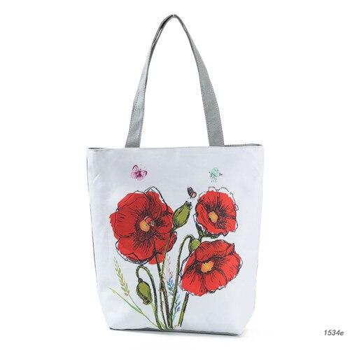 Miyahouse kolorowy kwiatowy i nadruk z ptakiem torba na ramię kobiety Lmitation haft Casual torebka na ramię kobieta płótno torebka damska
