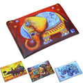 Women Wallets Elephant Prints Zipper Coin Purse Lady Change Purses Cards Keys Money Bags Pocket Cartoon Girls Zero Wallet Bag