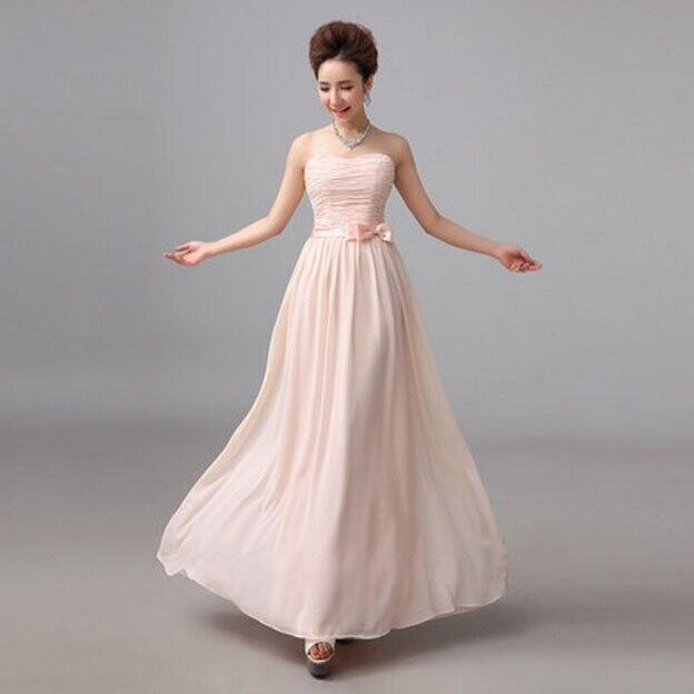 e8a003cc1 حجم 8 السيدات بسيطة الوردي حمالة الشيفون أكمام حفلة موسيقية فستان طويل بنات  فساتين النساء العرف في الأزياء شحن مجاني S1511 في حجم 8 السيدات بسيطة  الوردي ...