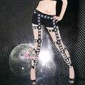 Женский костюм брюки брюки горный хрусталь lvkong брюки и сексуальные ночном клубе певица спуск равномерное искушение танец костюмированное шоу ну вечеринку