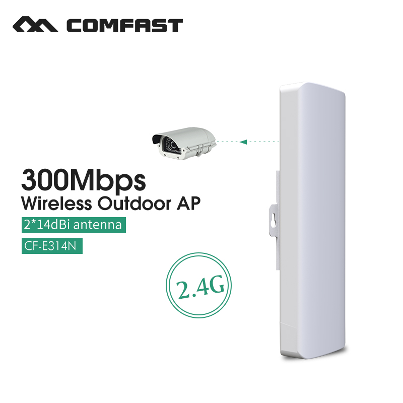 ФОТО 2.4Ghz WIFI Signal Booster Amplifier waterproof 300M WIFI outdoor wireless bridge router CPE 802.11G/B/N COMFAST CF-E314N