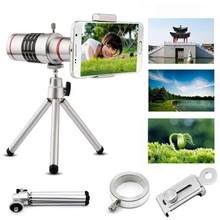 Cheap price 2017 New 18X Universal Phone Tripod Zoom Mobile Phone Lens Telescope Camera Telephoto Lens with Tripod Mount Stand