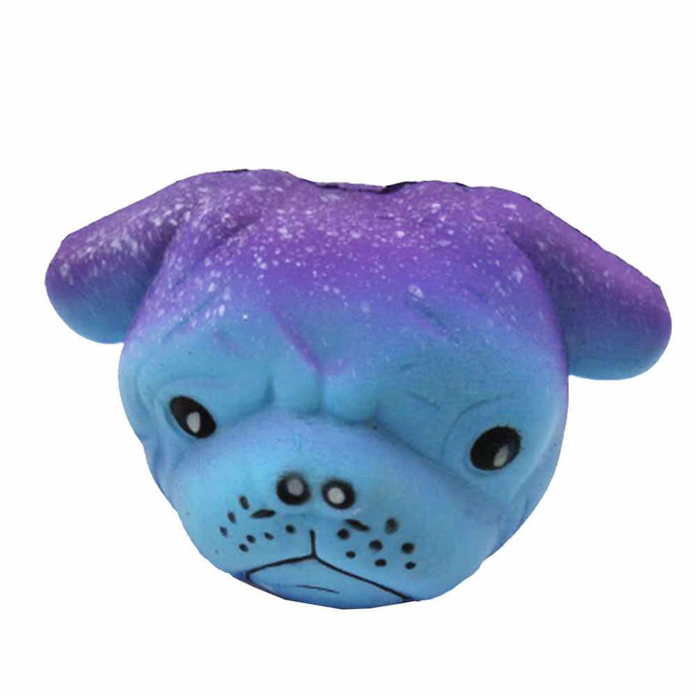 Apretón suave exquisito divertido galaxia Crazy Dog perfumado encanto lento aumento 8 cm simulación chico niño divertido regalo Z0325