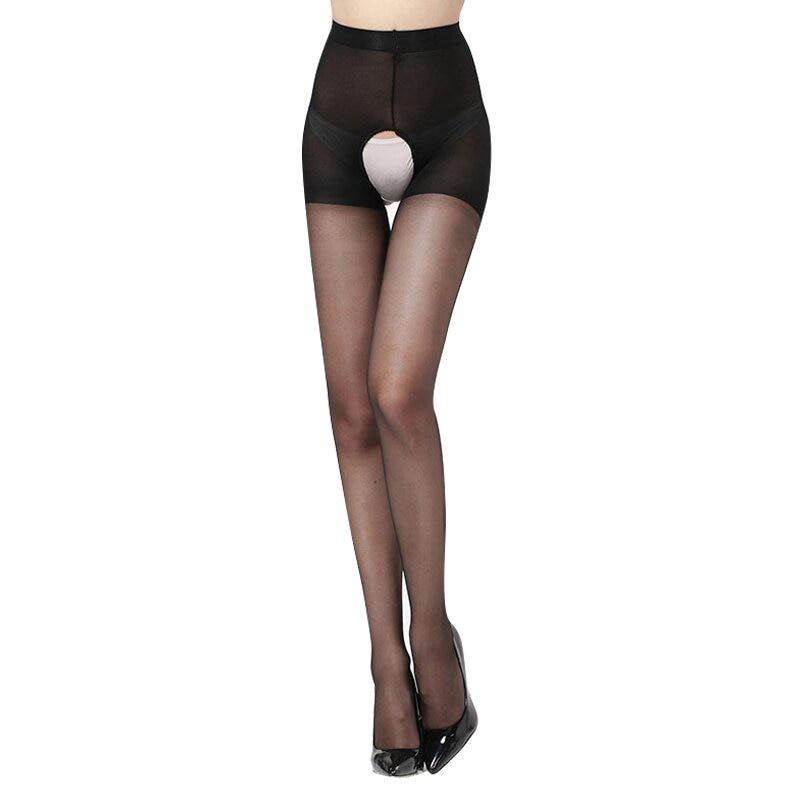 ba012 Crotchless stocking black (7)