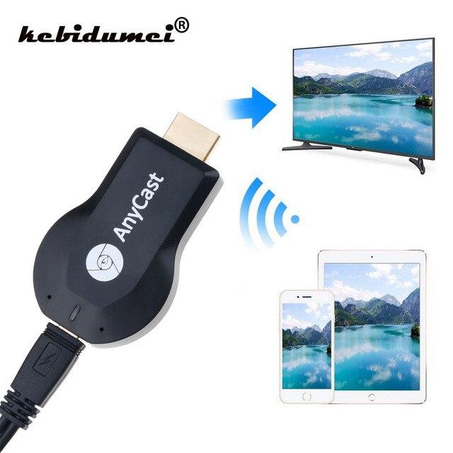 Kebidumei אלחוטי HDMI טלוויזיה מקל עבור AnyCast M2 עבור Airplay WiFi תצוגת טלוויזיה Dongle מקלט עבור Miracast עבור אנדרואיד טלפון מחשב