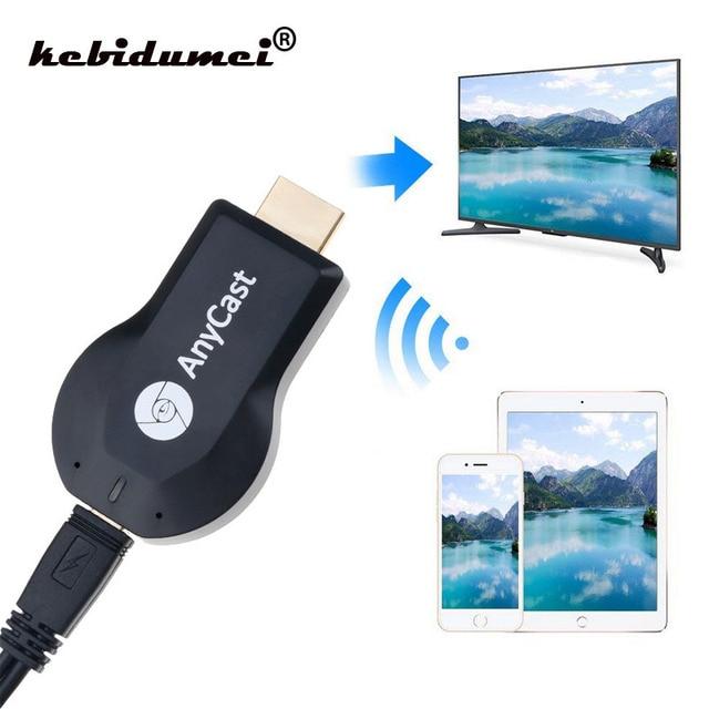 Kebidumei Kablosuz HDMI TV çubuk mini PC AnyCast için M2 için Airplay WiFi Ekran televizyon kilidi Alıcısı Miracast Android Telefon PC için