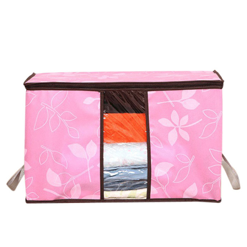 4 color Flowers Printed Non-woven Storage Boxes Organization Plus Size Finishing Storage Boxes Windows Bags Dropshipping M035