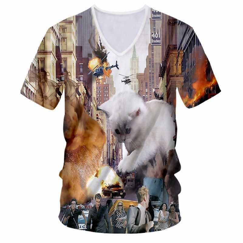 OGKB 2018 Прибытие Мужская 3D футболка/wo мужские летние модные армейские камуфляжные печатные Homme Slim Fit V охладитель для шеи брендовая футболка нижнее белье