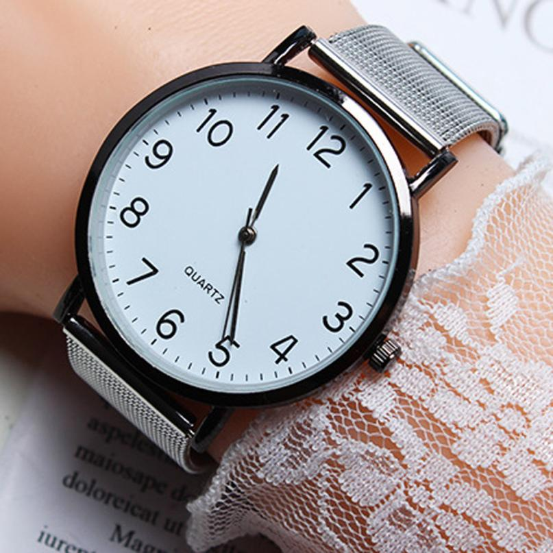 Simple Women Watch Fashion Stainless Steel Quartz Wrist Watch Women Watches Casual Ladies Watch Female Clock Reloj Mujer