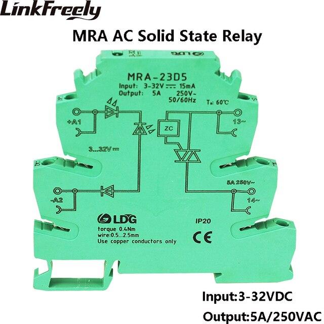 mra 23d5 5pcs mini intelligent ultra thin ssr relay 5a 3v 5v 12v dcmra 23d5 5pcs mini intelligent ultra thin ssr relay 5a 3v 5v 12v dc input ac solid state relay voltage relay module on din rail