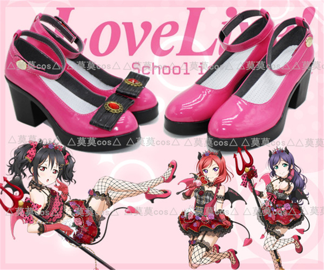 d1aae44955e3 Love Live All Member Little Devil Demon Cosplay Shoes Anime Cos Shoes