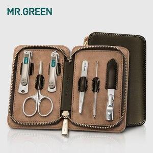 Image 2 - MR. สีเขียว 6 ใน 1 Nail Clipper ชุดเล็บ Pedicure Cutters กรรไกรแหนบมีด Professional เล็บชุดเครื่องมือ