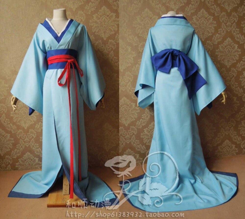 Аниме Hell Girl отточить онна кимоно равномерное Хэллоуин Косплэй костюм наряд