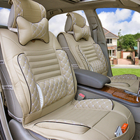 Cool Car Seat Cushion Four Seasons Four Seasons General Leather Upholstery Autumn And Winter Car Mats