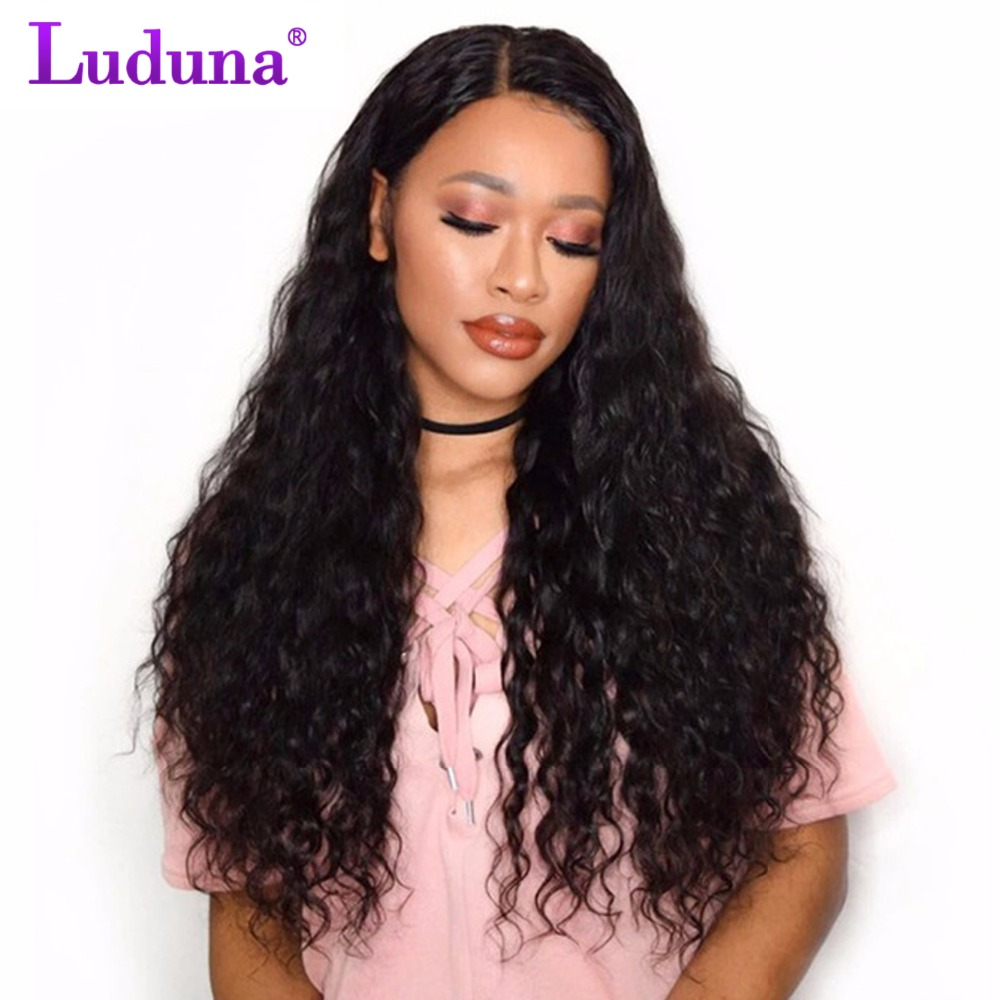 Luduna Malaysian Water Wave 3 Bundles 100% Human Hair Bundles Natural Color Remy Hair Weave Bundles Extensions Full Ends
