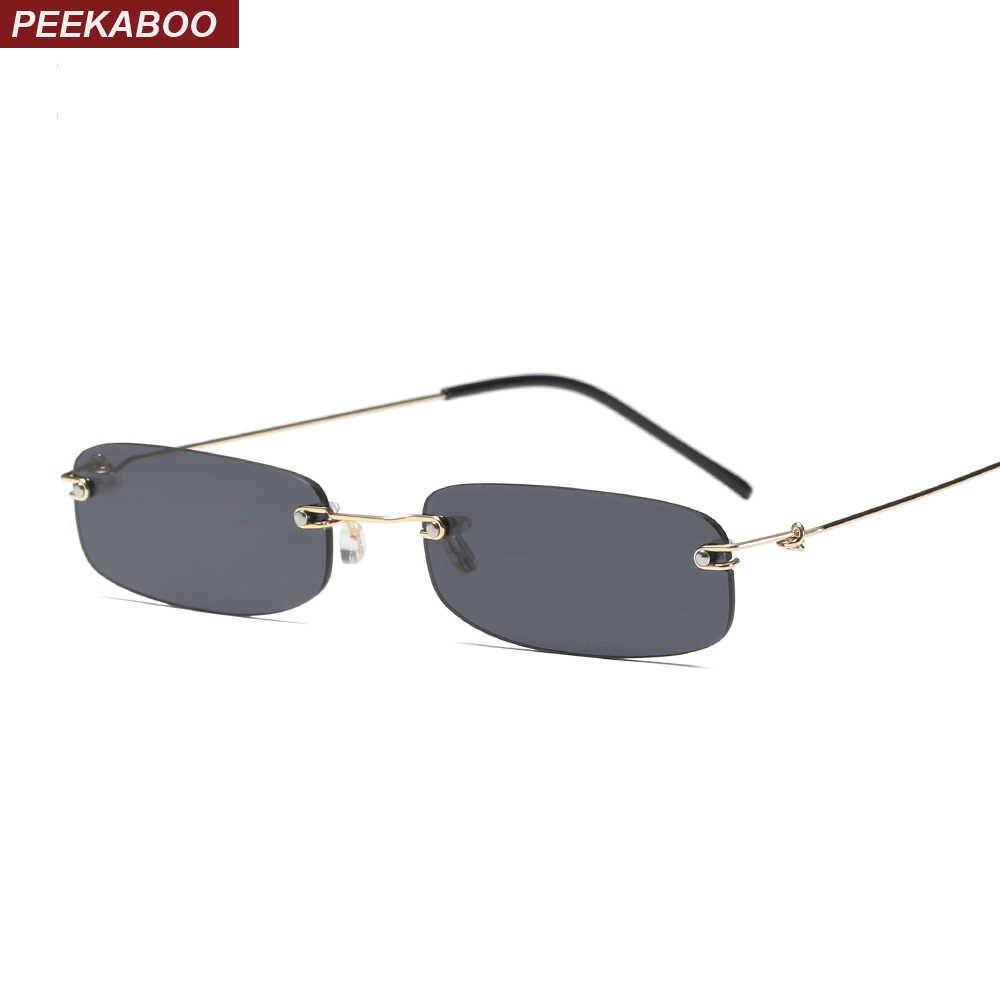 9e5201f63b Peekaboo estrecha gafas de sol hombres montura, verano de 2018 rojo azul  negro rectangular,