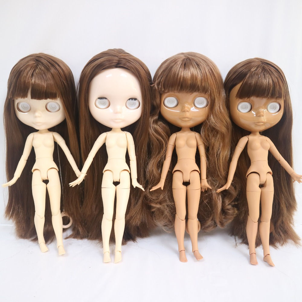 No eye chips Joint body Blyth doll with brown hair Series NO SF 63