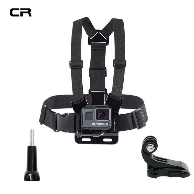 Duszake Acessórios Alça de Ombro Para Gopro Monte Action Camera Acessórios Para Ir pro Herói 5 6 Peito Para Gopro Xiaomi yi 4 k