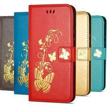 Luxury Golden Butterfly Case For Apple iPhone X Xs Max Xr 7 8 6 6s Plus 5 5s SE Photo Frame Leather Wallet Card Slot Cover D02G