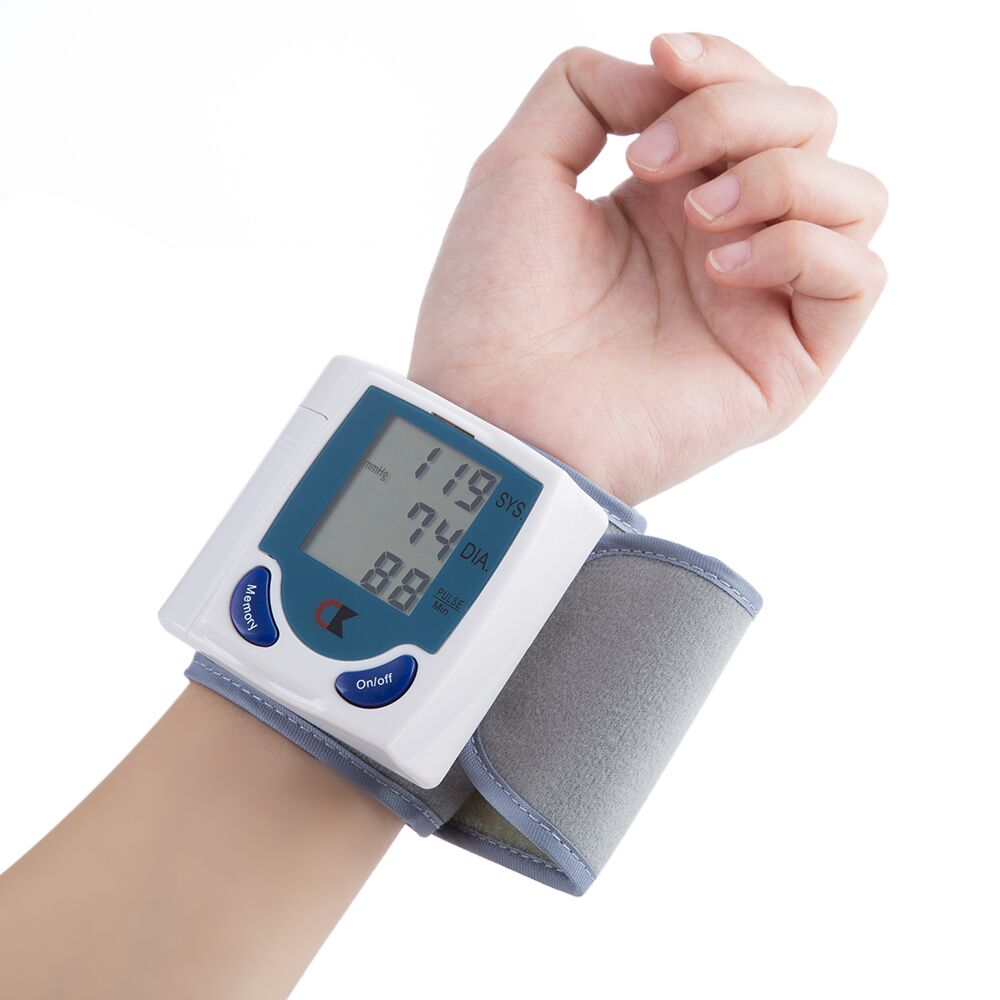 Household Medical Wrist Blood Pressure Monitor LCD Digital Tonometer Automatic Sphygmomanometer Tensiometer Bp Heart Rate Meter(China)