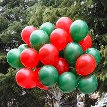 50pcs/lot Christmas balloon white red Santa Claus tree sky star 2017 year new Balloon Party Decoration