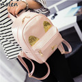 Aolen New 2016 Fashion Women Backpack Big Crown Embroidered Sequins Backpack Wholesale Women Leather Backpack School Bags