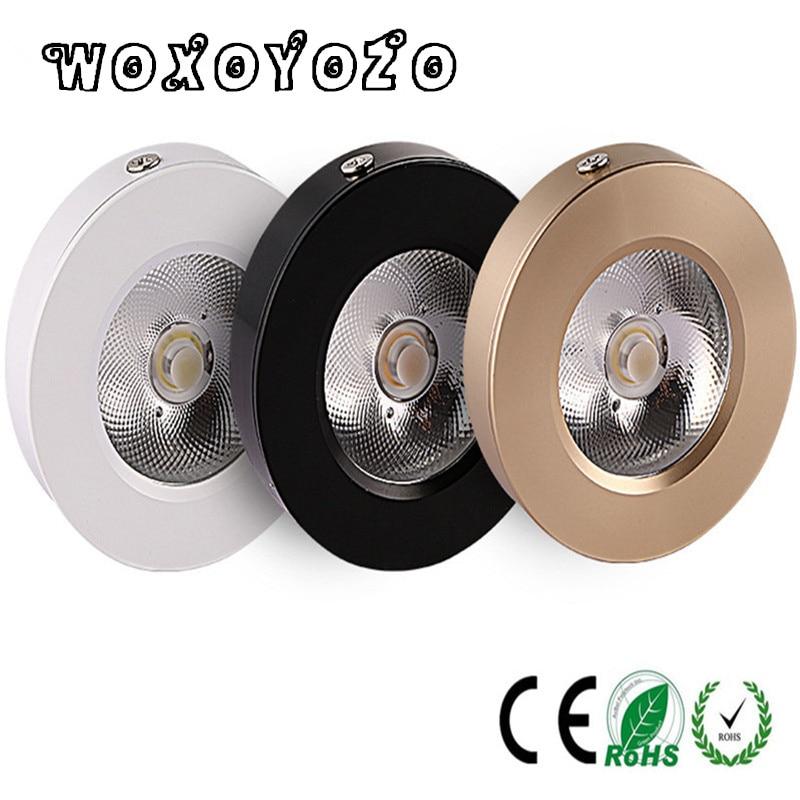 Mini Surface Mount Led Downlight w 5w 7w 10w 15w 220V lamp Ultrathin Cob Spot Led Light lighting Ceiling Home Cabinet Wardrobe