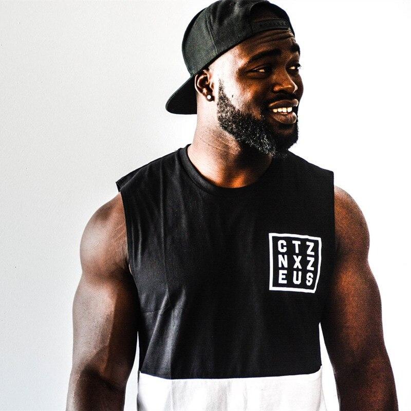 2017 Retro Wood Fitness font b Men b font Tank Top font b Mens b font