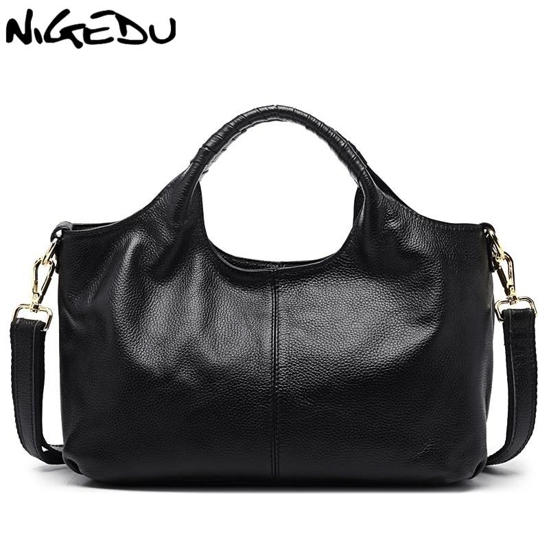"""NIGEDU Марка роскошные подлинная кожаные сумки для женщин сумки зеленые женские бродяги сумки на ремне сумки дамы коровьей сумки стипендий """"больза"""""""