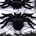 Halloween Props Bar Ornaments Haunted House Decorated Black Plush Spider Luminous Spiders Funny Kids Toys