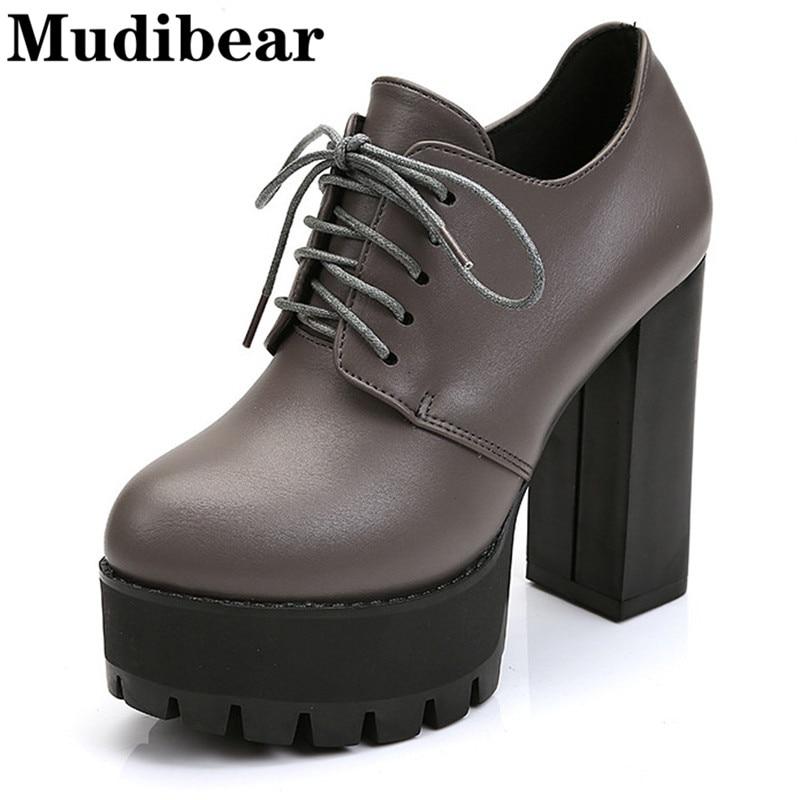 Mudibear Sexy Women Shoes High Heels Pumps Platform Shoes Woman PU Leather Ladies Shoes tenis feminino zapatos de mujer