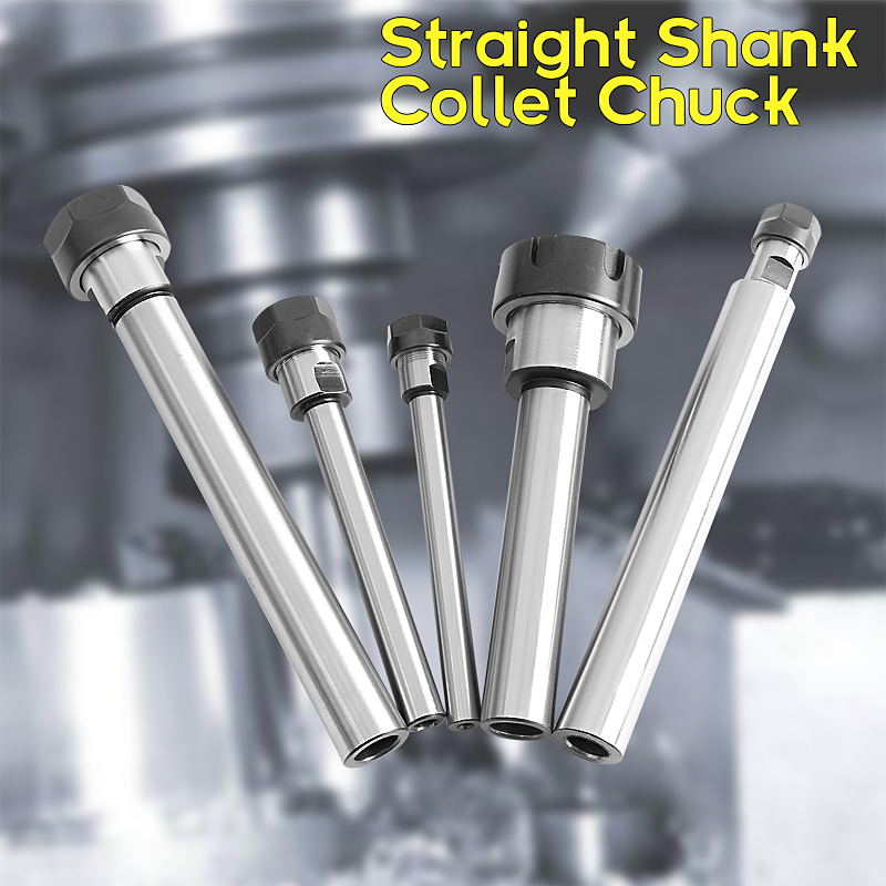 1pcs Straight Shank Collet Chuck Holder CNC Milling Lathe Extension Rod C10 to C20 ER11 to ER25 with Nut practical c10 er11a 100l collet chuck holder 100mm extension straight shank for cnc milling lathe for er11 collet with er11a nut