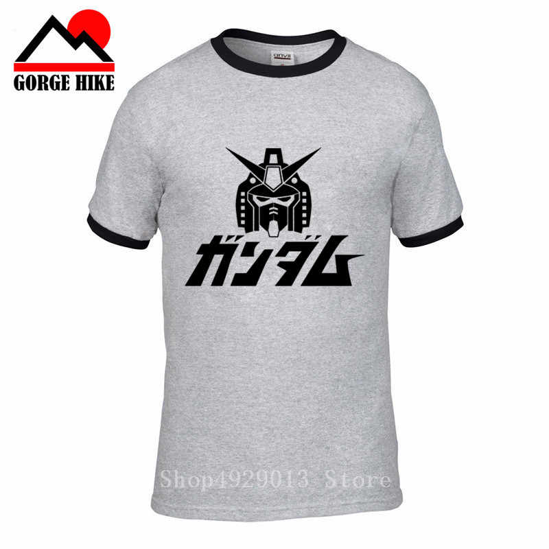 Coolprint Anime camisa móvil 2019 traje Gundam Wing Camisetas manga corta primero Gundam RX-78-2 Robots gigantes Cosplay Motivs camisas