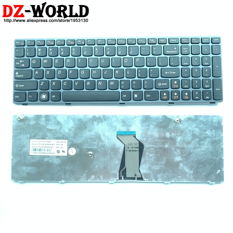 New GRAY US English Laptop <font><b>keyboard</b></font> for <font><b>Lenovo</b></font> V570 V570C V575 Z570 Z575 B570 B570A <font><b>B570E</b></font> B570G B575 B575A B575E B590 B590A image