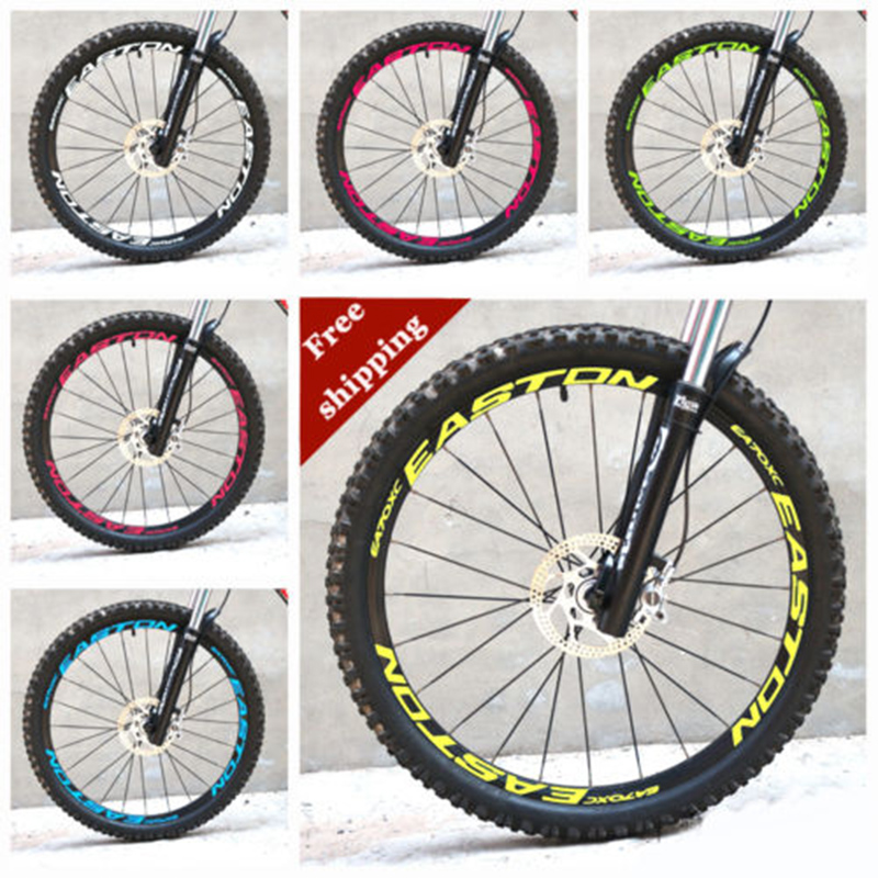 26 27.5 29 inch Mountain Bike bicycle two Wheels Set Rim Stickers ...