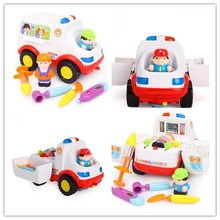 Hot Cars for Electronics Car Toys With Flashing Lights Fancy DIY Toy cars Intelligent ambulance car