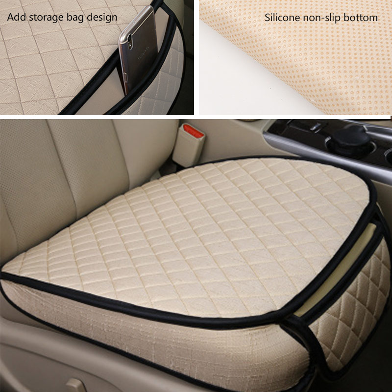 Image 4 - Car Styling Automobiles Seat Cover Breathable Flax Car Seat Covers Set Universal Auto Seats Cushion Pads Protector Accessories-in Automobiles Seat Covers from Automobiles & Motorcycles
