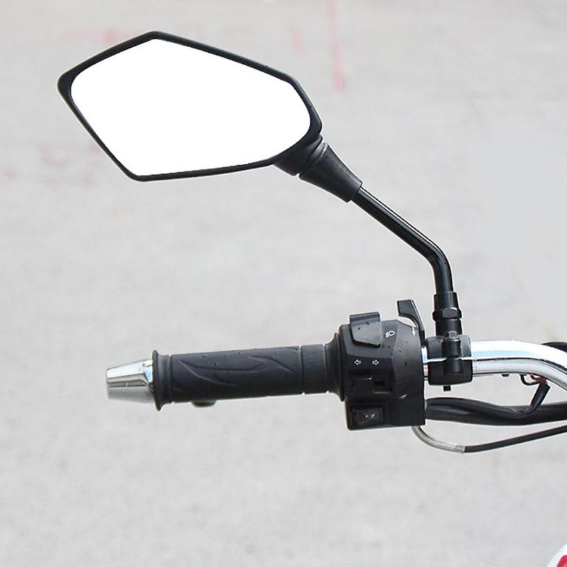2018 Top sale New 1 Pair Universal Motorcycle Mirrors Accessories Scooter Parts Moto Rearview Mirrors Keep your safety