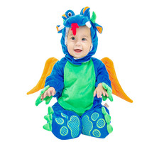 Children Blue Dinosaur Ainmal Cosplay Costume With High Quality Fashion Design For Kids Clothing