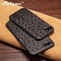 Natural Real Genuine Cow Leather Cases For IPhone 7 6 6S Plus Cell Phone Luxury Slim