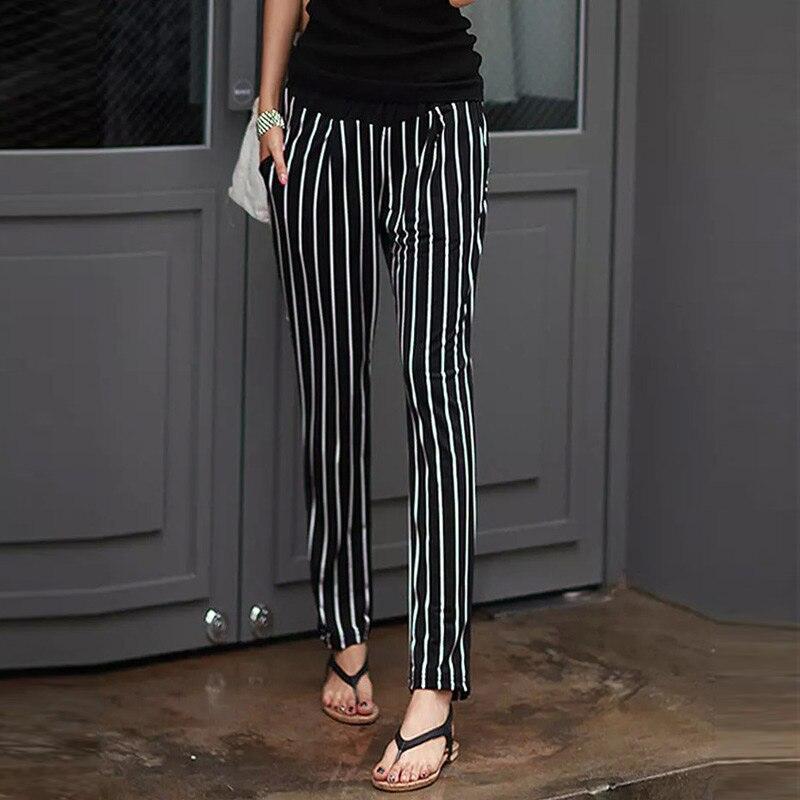Hot Women Harem Pants Striped Loose Slim Fit Casual Mid-waisted Female Panties CGU 88