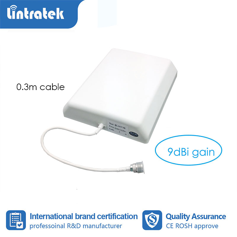 9dB Gain Internal Panel Antenna 700~2700MHz 2G 3G 4G Wall Indoor Antenna Use For Cell Phone Signal Booster With 0.3m Cable S6