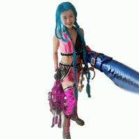 Jinx Cosplay Costume Lol Game Party Carnival Halloween cosplay Costumes with Bullet shell
