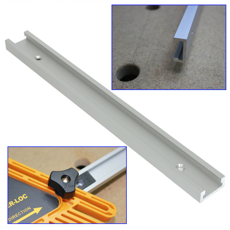 все цены на High Quality 12inch 300mm T-tracks T-slot Miter Track Jig Fixture Slot For Router Table Saw T track T slot онлайн